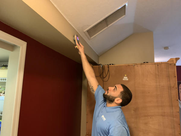 Mold Expert Conducting Moisture Test; Mold Remediation; Altamonte Springs, Florida