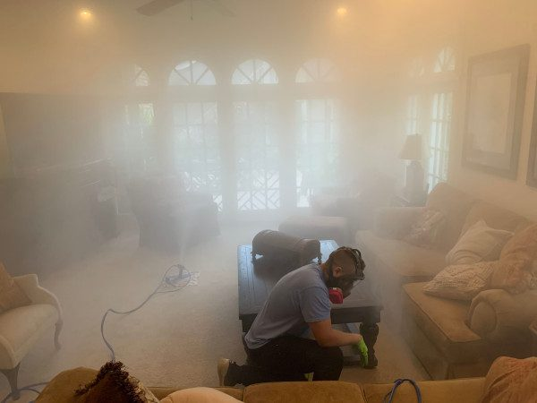 Whole HoWhole Home Cleanse in College Park, Florida; Mold Removal in Furniture; Mold Specialist checking dry fogger headsme Cleanse in Orlando Florida; Mold Removal in Furniture; Mold Specialist checking dry fogger heads