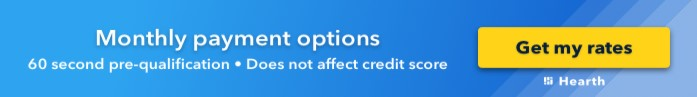 Button to get financing rates