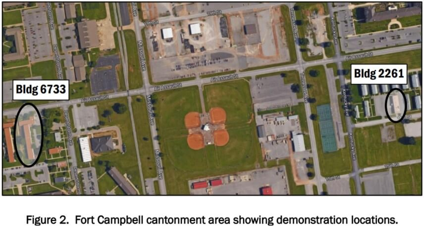 aerial view of fort Campbell KY